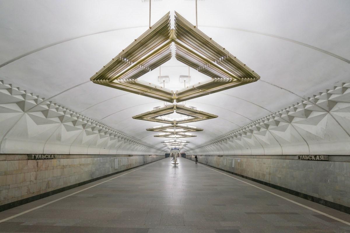 Tulskaya Metro İstasyonu, Moskova, Rusya. Fotoğraf: Christopher Herwig.