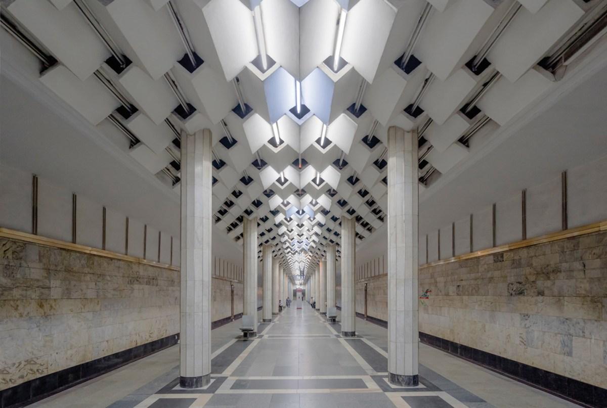 Bakü Metro İstasyonu, Bakü, Azarbaycan. Fotoğraf: Christopher Herwig.