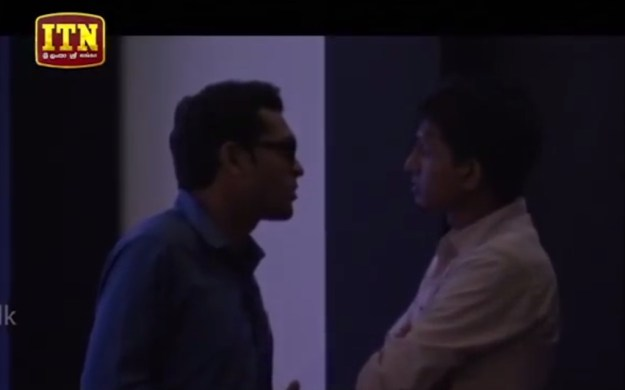 Prabhath talks to another person to before deciding.