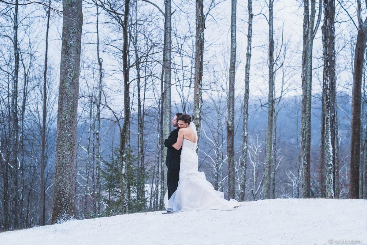 winter wedding in boone nc