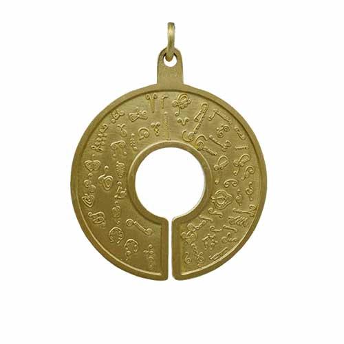 BioSignature Pendant Yellow Bronze 2021 New! BioSignature Emitter Medallion, Gold Tone Vesica Institute for Holistic Studies