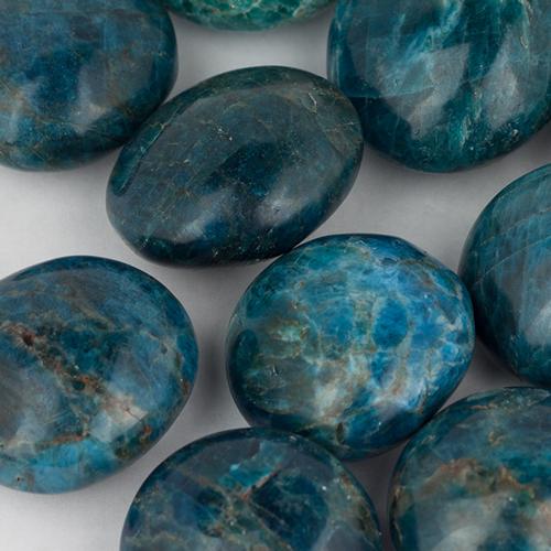 apatite palmstones 10 Apatite, Blue, Polished Stone Vesica Institute for Holistic Studies