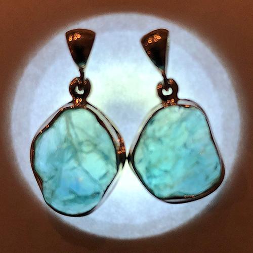 apatite pendant illuminated Apatite, Blue, Pendant, Rough, Translucent Quality Vesica Institute for Holistic Studies