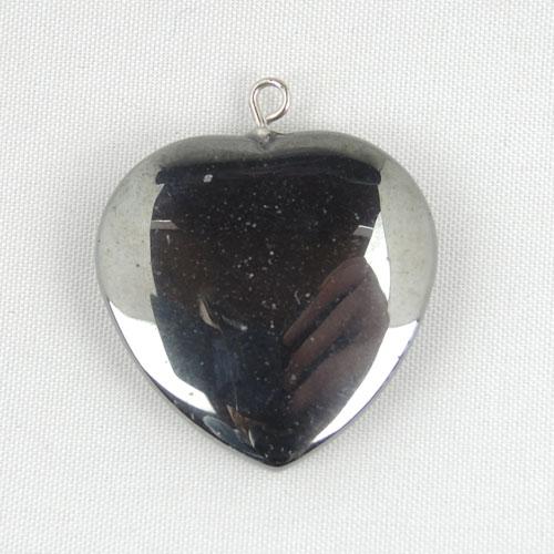 hemheart Hematite, Heart, Pendant Vesica Institute for Holistic Studies