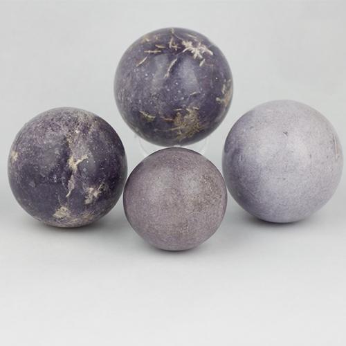 lepidolite spheres 4 Lepidolite, Sphere Vesica Institute for Holistic Studies
