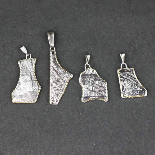 meteorite muonionalusta bright organic shape pendants 2 Meteorite, Muonionalusta, Bright Organic Shape, Pendants Vesica Institute for Holistic Studies