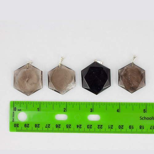 smokey quartz hexagonal pendant 3 Quartz, Smoky, Star of David Pendants Vesica Institute for Holistic Studies
