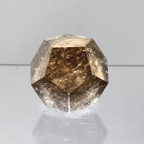 sqd2 Quartz, Smoky, Dodecahedron, Brazil Vesica Institute for Holistic Studies