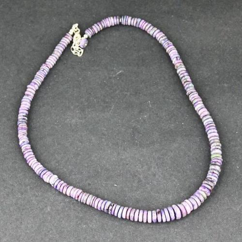 sugilite roundel bead necklace 4 Sugilite, Roundel Bead, Necklace Vesica Institute for Holistic Studies