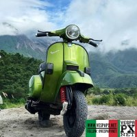 Greenery with Vespa PX  @hilmiyrf