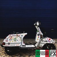 Custom Vespa PX stickers  @no.photo.on.two.wheels