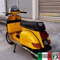 Yellow Vespa Excel 150 T5 custom modified @azmiscooters