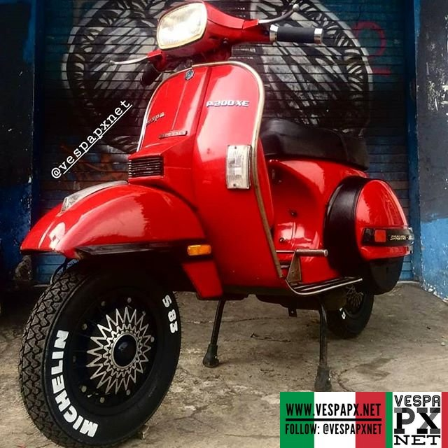 Red Vespa PX for sale contact @amp_scooter