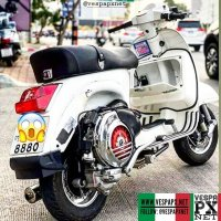 White Vespa PX custom modified . hashtag and mention @vespapxnet for feature repost @marijuana.pm