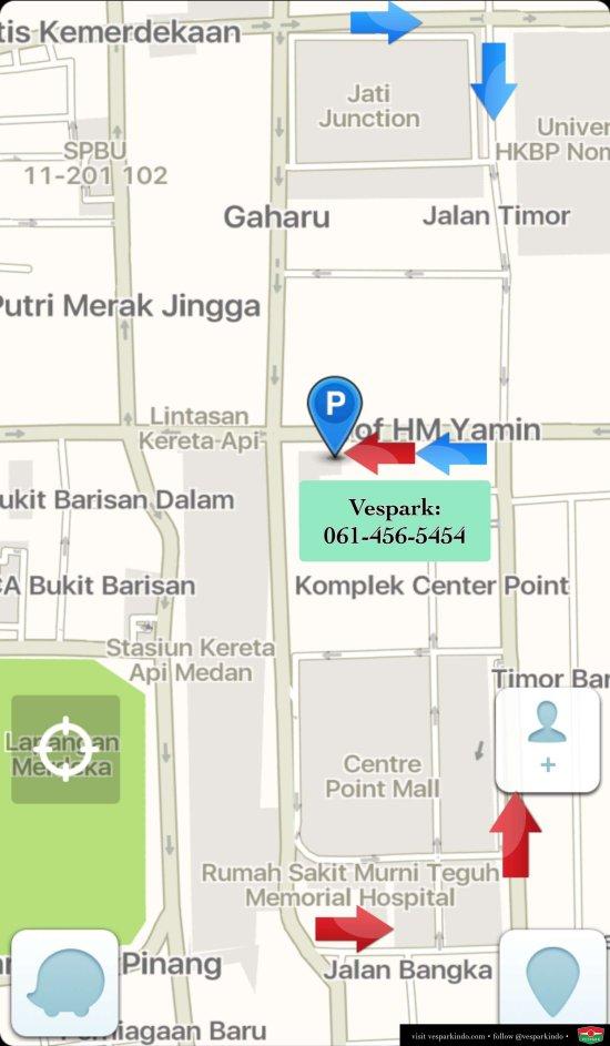 map vespa medan vespark