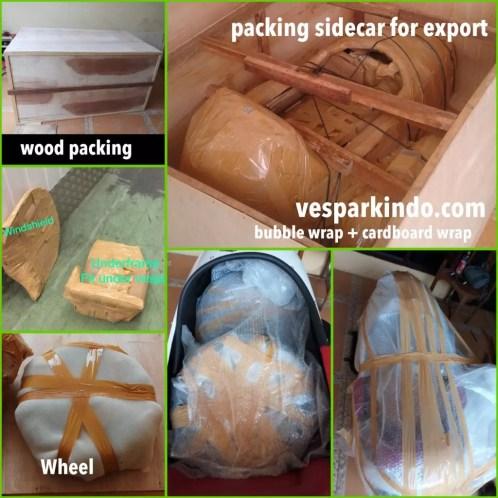 vespa sidecar export packing