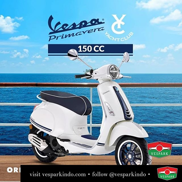 New Vespa Primavera Yacht Club Limited Edition Special Led Lamps