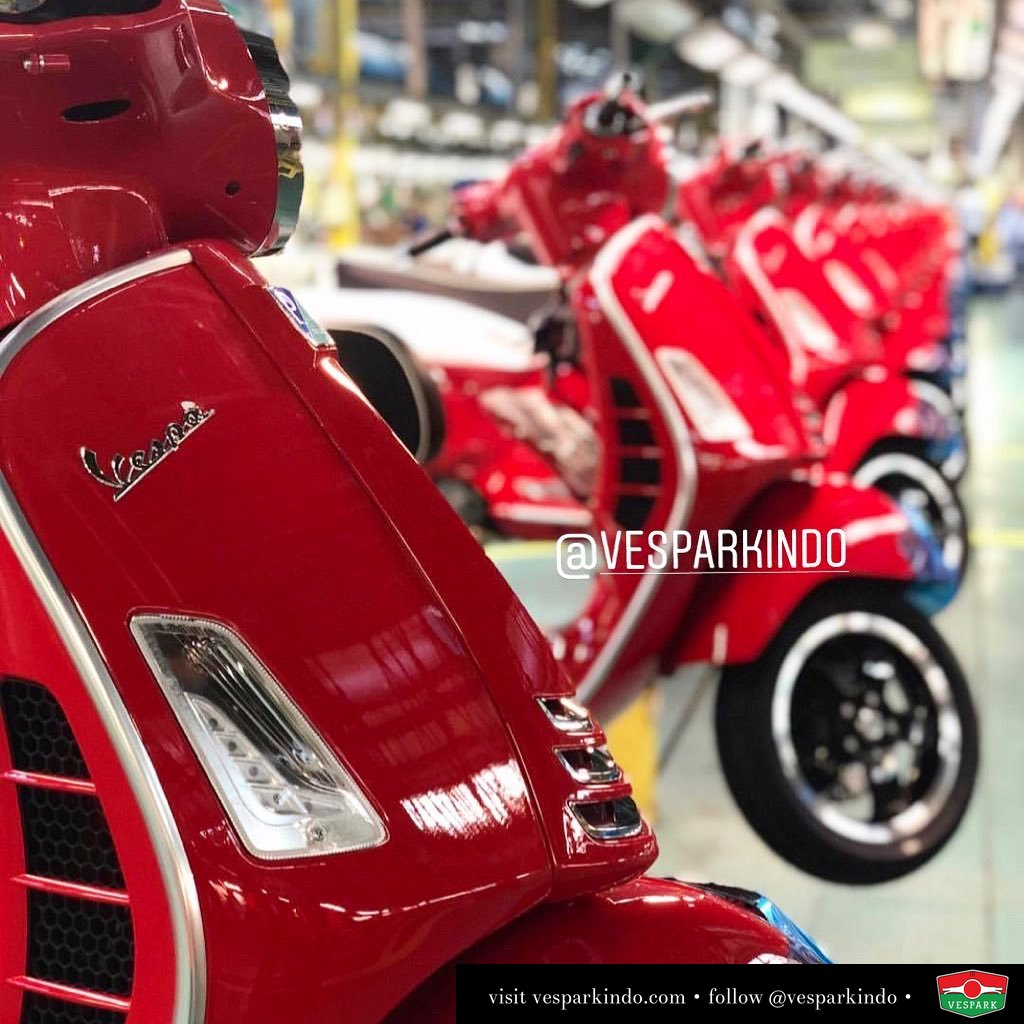 New Vespa GTS coming soon… book yours now at Vespark  Limited units for July Wa: 0815-21-595959