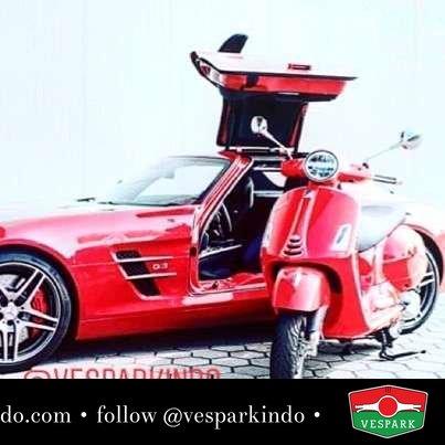 Red Vespa GTS! Are you ready for it? @gruppovespa300gtsitalia