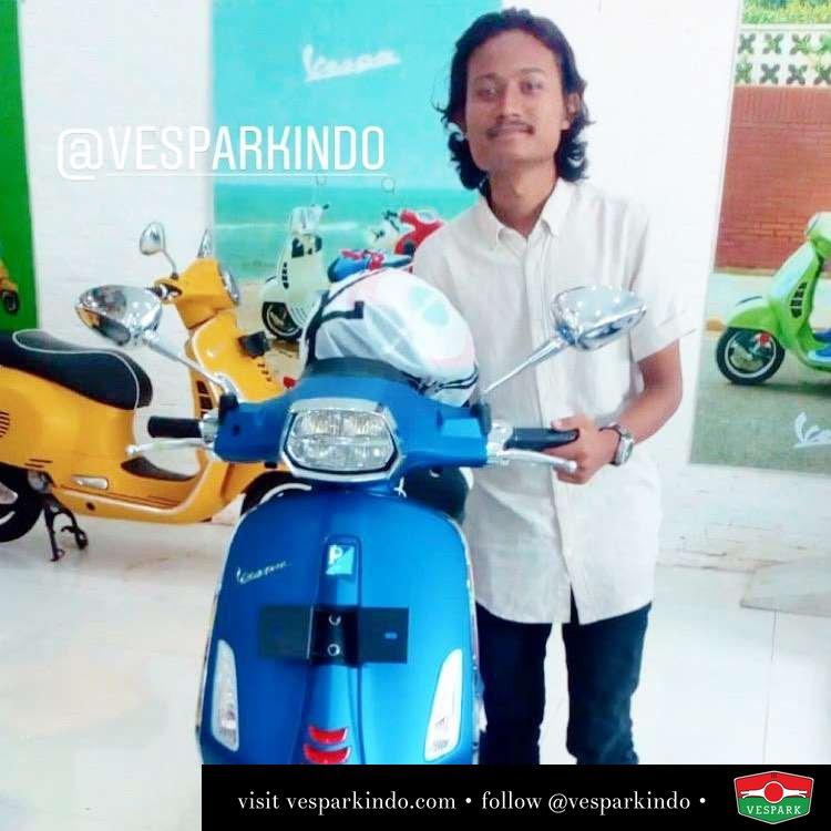 Vespa Sprint S ABS LED atas nama Asni, pengiriman ke Banda Aceh