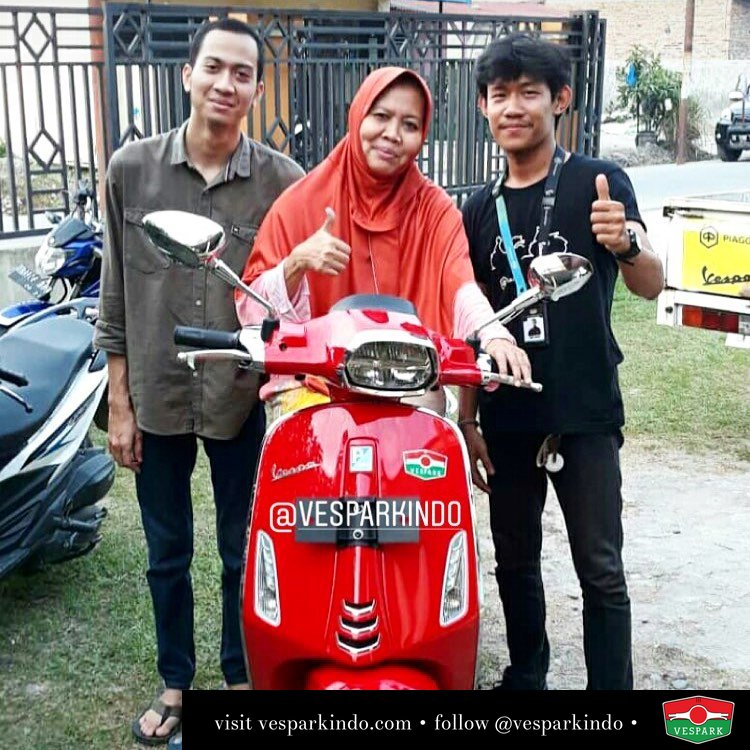New Vespa Sprint iGet ABS LED, red rosso dragon Welcome to Vespark Family Fadhilah dan ibunda Nuzulul akbar