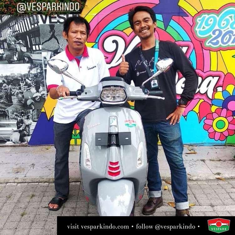 New Vespa sprint S LED grey avio, welcome to Vespark family Ikhdar Abudaya, ST, (Padang Lawas