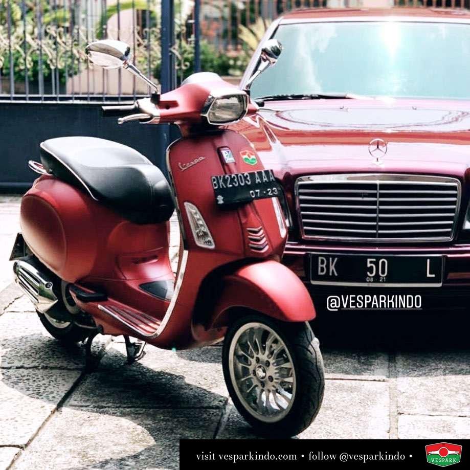 Vespa Sprint matt red @asenkpro