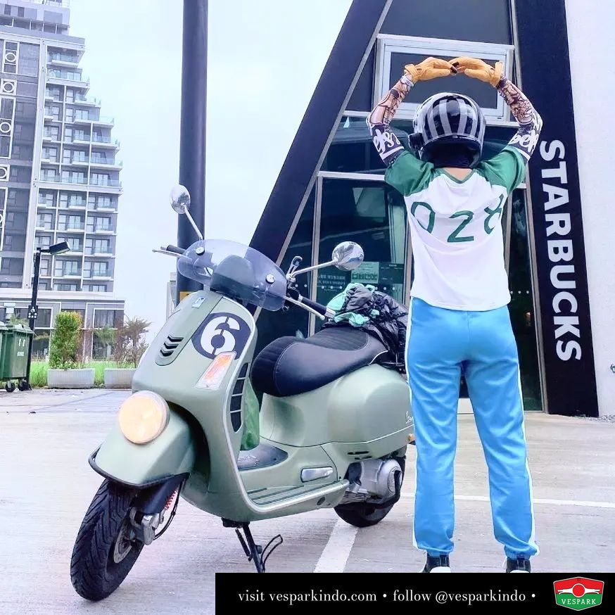 Squid Game fan or Vespa GTV 300 Sei Giorni fan or both?  Live More Ride Vespa Saatnya anda miliki scooter matic legendaris Vespa!  feature @sweetsui28