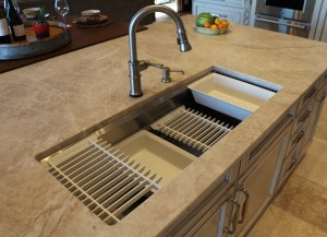 "white sink accessories in 42"" wide single sink"