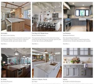 Ideabook from Houzz for kitchen inspiration.