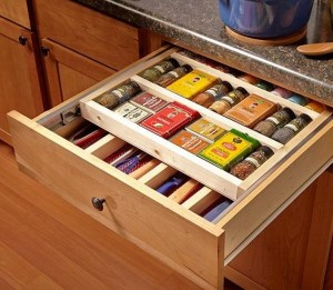 drawer with two tiers for utensil and condiment organization