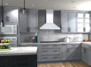Rendering of kitchen cooking zone