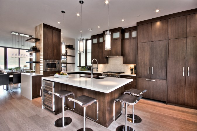 Kitchen design in the Transitional style. Transitional kitchen decor is the number one choice with consumers