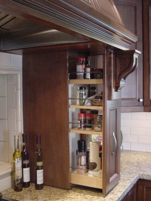 condiment pullout with attached corbel