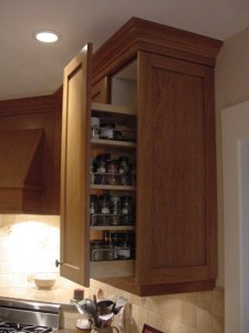 condiment pullout in upper cabinet