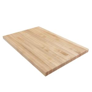 large maple butcher block counter