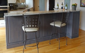 raised dining bar with hidden storage