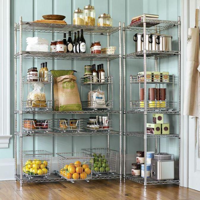 metal free standing pantry