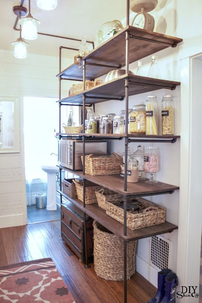 open concept pantry from