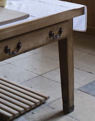 Island post for craftsman island table