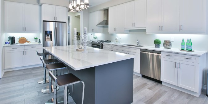 Stainless Steel appliances are a popular choice for Kitchen Design