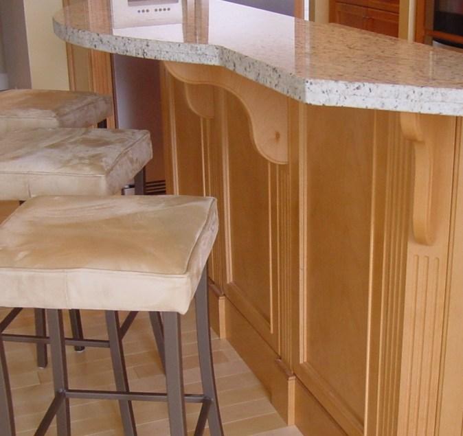 Dining shelf brackets curved shape