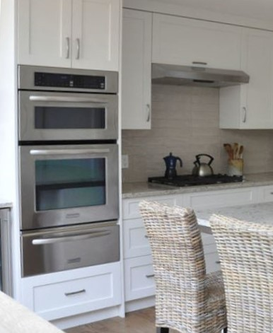 stainless steel ovens in cooking zone