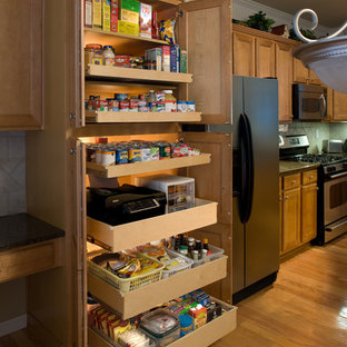 Pantry with pullout shelves