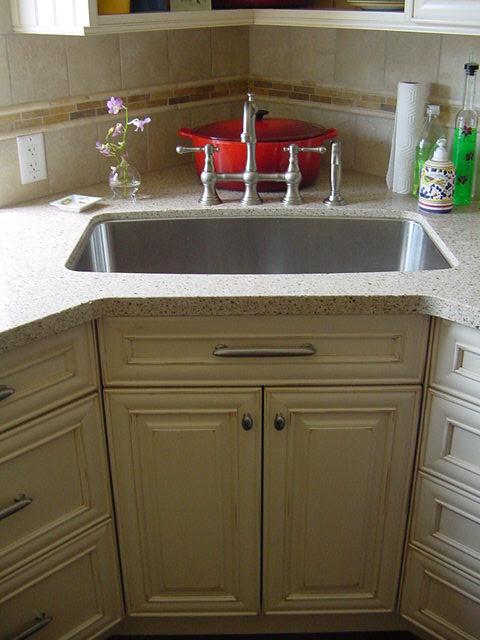 undermount corner sink