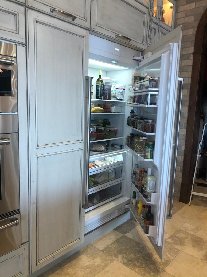 refrigerated food storage