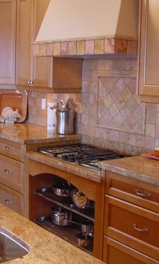 lower counter top for gas cooktop