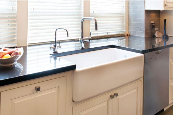 apron sink undermounted