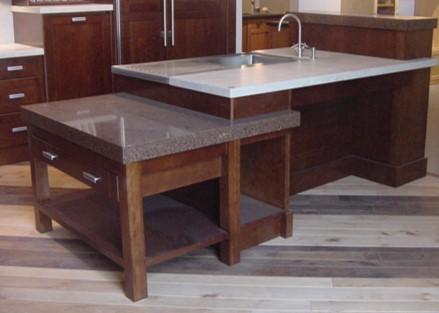 transitional style kitchen island