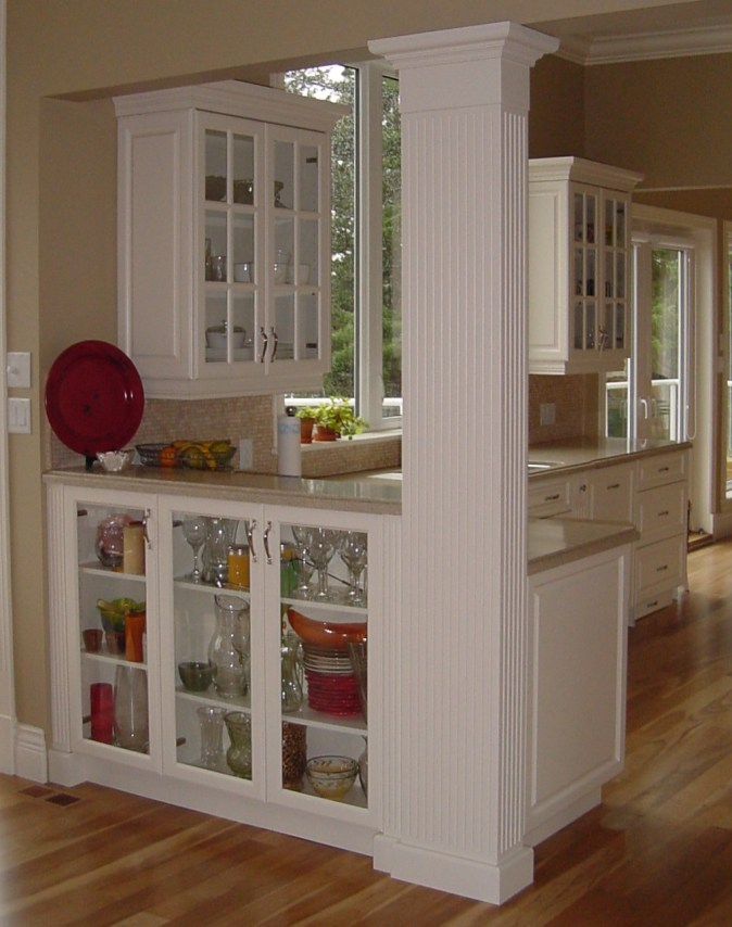 white glass door cabinets